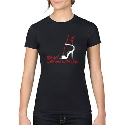 T-Shirt THE GIRL FREE col rond
